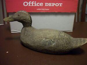 Vintage Wood Duck Decoy Glass Eyes Antique Ebay