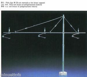 Site Officiel Scala Ho 2 Pali M29 Mensole Per 3 Binari Bracci Interni/ Esterfs New Cod.910/911 Texture Nette