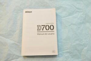 SPANISH-NIKON-D700-DIGITAL-CAMERA-OWNERS-INSTRUCTION-MANUAL
