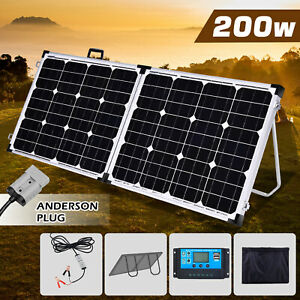 200W-Folding-Solar-Panel-Power-Regulator-12V-Battery-Charger-Portable-Camping