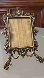 Antique-French-Bronze-Large-Family-Photo-Frame