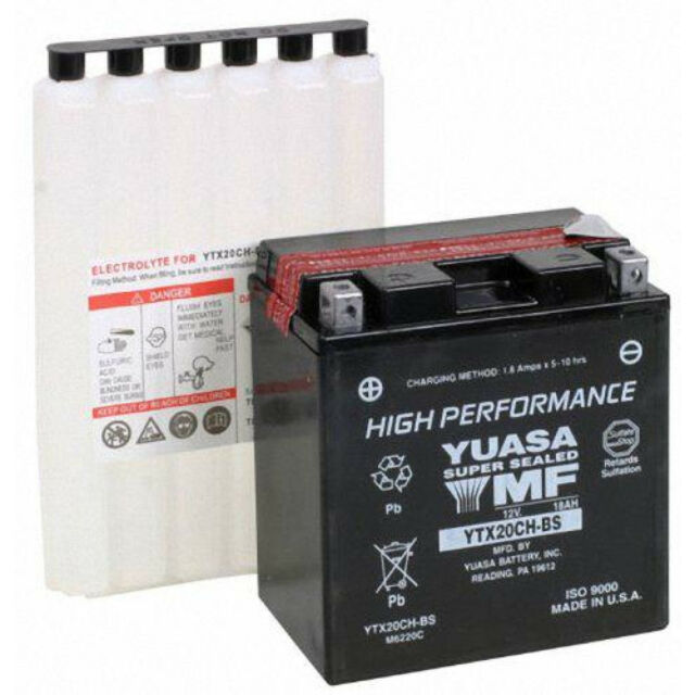 Batterie Moto Yuasa YTX20CH-BS 12V 18Ah SUZUKI VL 1500 / VLR 1800 R Intruder