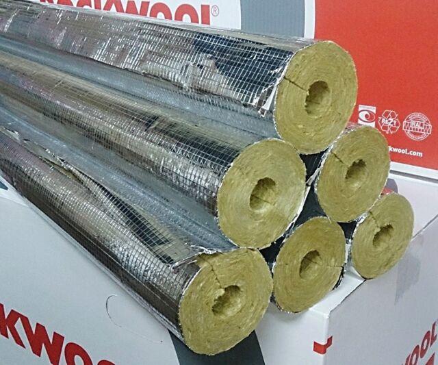 Steinwolle Rohrisolierung Rockwool 800 alukaschiert 89 x 80 mm voller Karton