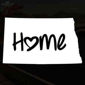 North Dakota Decal Bismarck Nd Home Love Sticker Pick Your Size