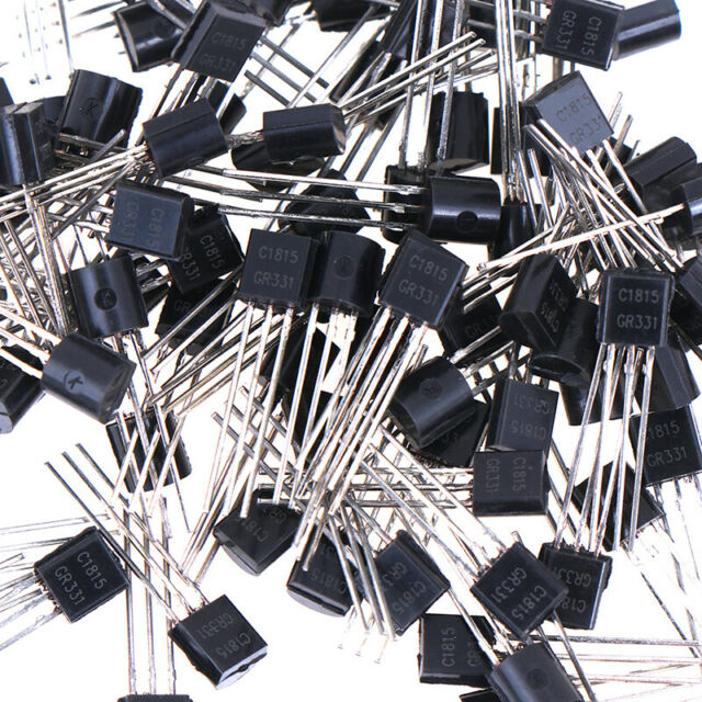 100PCS//Lot New  2SC1815 Throught Hole Triode Transistor TO-92 0.15A//50V ZH