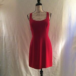 Red Cocktail Dress Laundry By Shelli Lord Taylor Size 8 Ebay