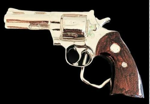 Revolver Gun Belt Buckle Magnum 45 Revolvers Handguns Guns Buckles Belts