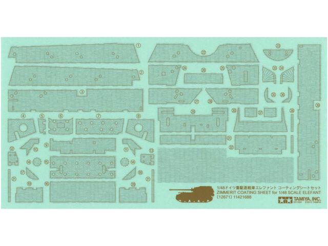 Tamiya 12671 1/48 German Heavy Tank Destroyer Elefant Zimmerit Coating Sheet Set
