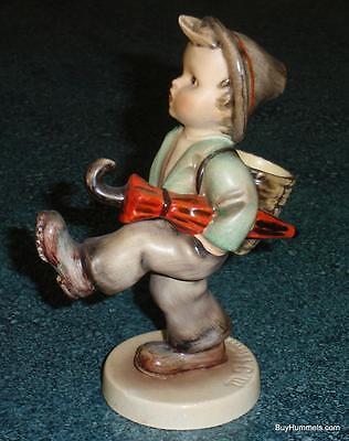 """Globe Trotter"" Goebel Hummel Figurine #79 TMK1 Boy W/ Umbrella US ZONE GERMANY"