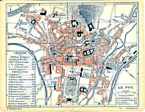 43 Le Puy-en-valey 1909 Plan Ville Orig Panessac Place De Breuil Chassaing Borne Qm5fia2a-08005538-931146719