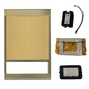 Tendina elettrica filtrante da interno per lucernari e for Lucernari da tetto