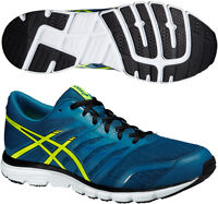 Asics Gel Zaraca 4 Mens Natural Free Flex Cushioned Running Shoes Trainers Blue