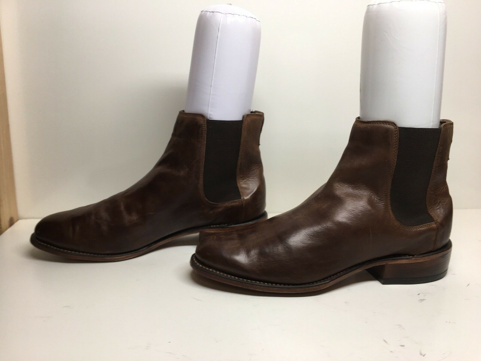 VTG MENS MADE IN USA CASUAL LEATHER BROWN BOOTS SIZE 11.5