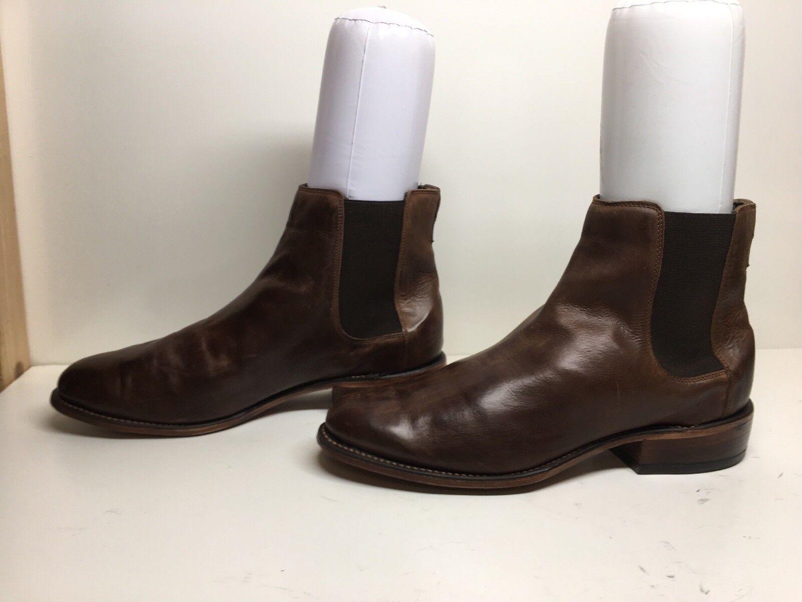 Vintage Mens Hecho en EE. UU. Informal Cuero Marrón botas