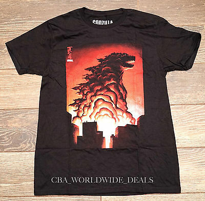 NEW SDCC 2015 Comic Con Loot Crate Lootcrate Godzilla T-Shirt Bioworld M - XL