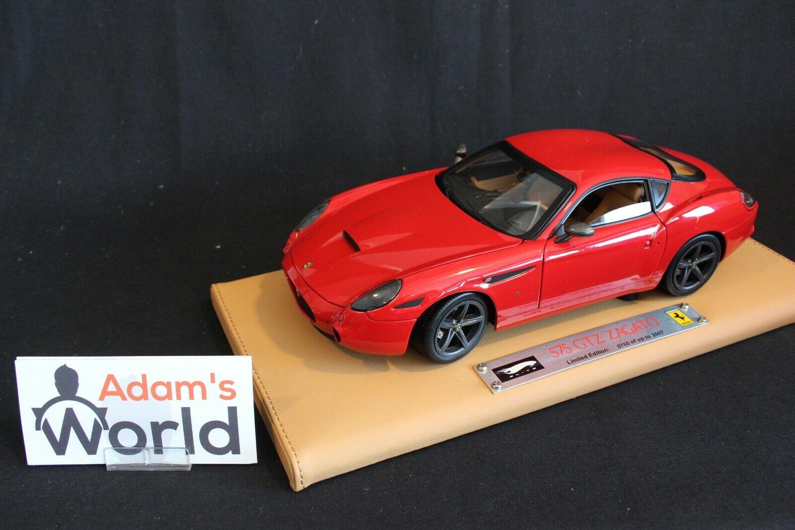 Sin impuestos Hot Wheels súper Elite Elite Elite Ferrari 575 GTZ Zagato 1 18 rojo (PJBB)  muy popular