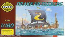 SMER 904 - DRAKKAR OSEBERG - VIKING SHIP. 1:180 SCALE PLASTIC KIT.  127mm LONG