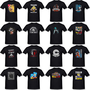 Dragon-Ball-Z-Tshirt-Black-Super-Saiyan-Goku-Saiyan-Train-T-Shirts