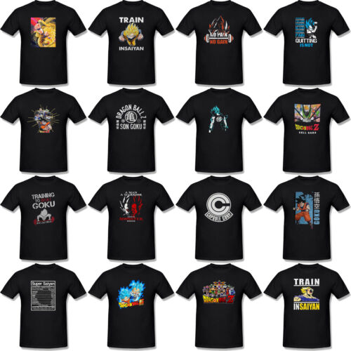 Dragon Ball Z Tshirt Black Super Saiyan Goku Saiyan Train T Shirts