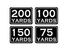 Vintage Style GOLF DISTANCE MARKERS Signs NEW Ball Yard