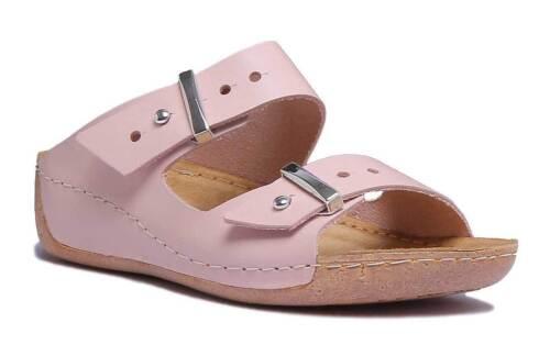 Justin Reece 4600 Womens Light Pink Leather Matt Sandal Size UK 3 - 8