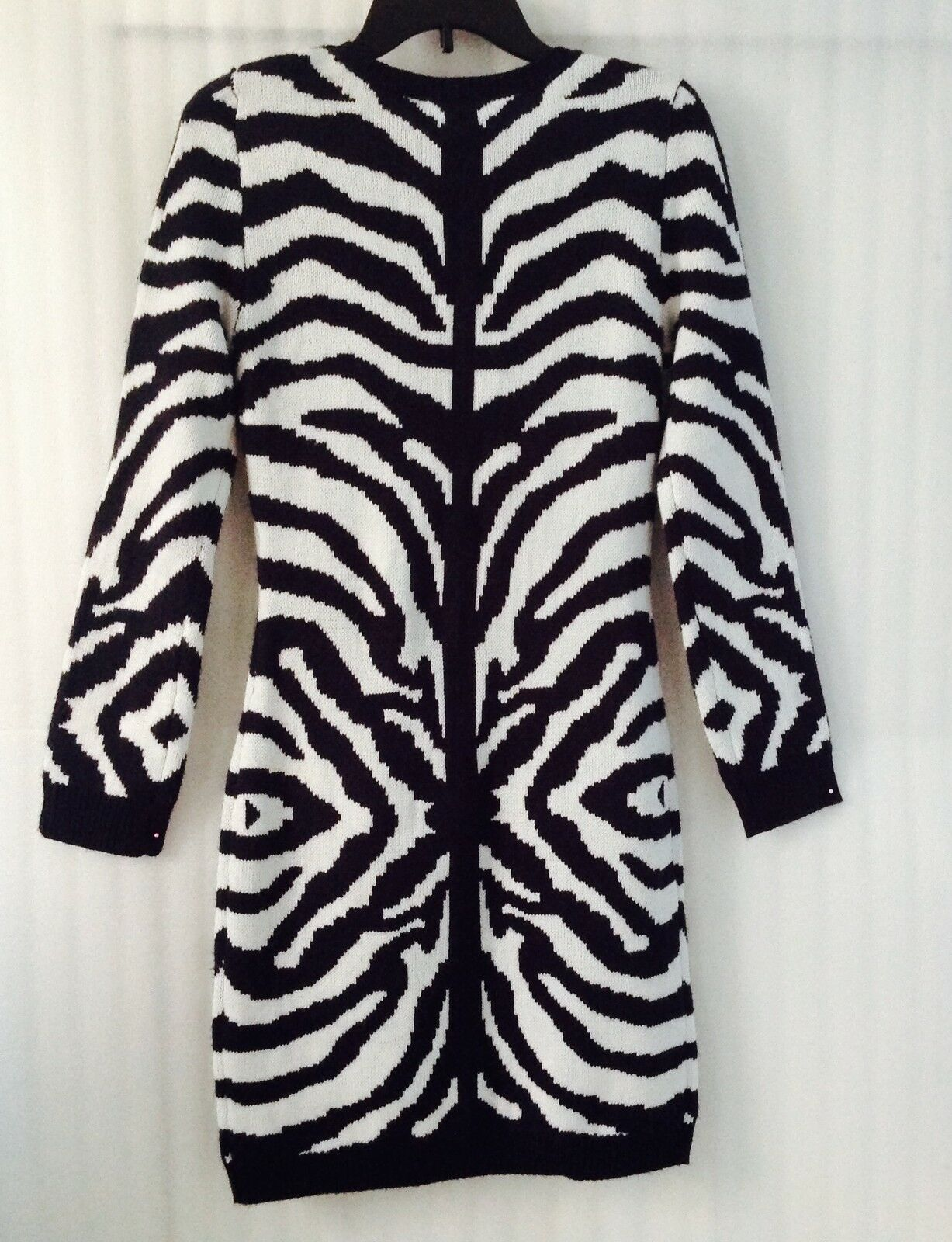 Romeo & Juliet Couture Woman Knit Dress Navy Ivory size M Long Sleev New