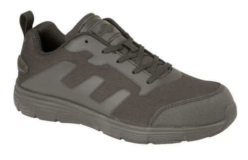 Mens Boys Black Campbell Steel Toe Cap Safety Work Trainers Comfort Shoes 7-12