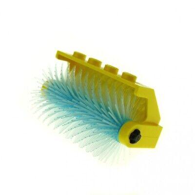 1x Lego Wash Brush Yellow Ice Light Blue Ball Hinged Holder 2473 2578a
