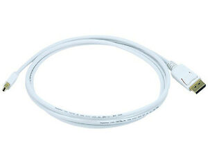 6ft-32AWG-Mini-DisplayPort-to-DisplayPort-Cable-White