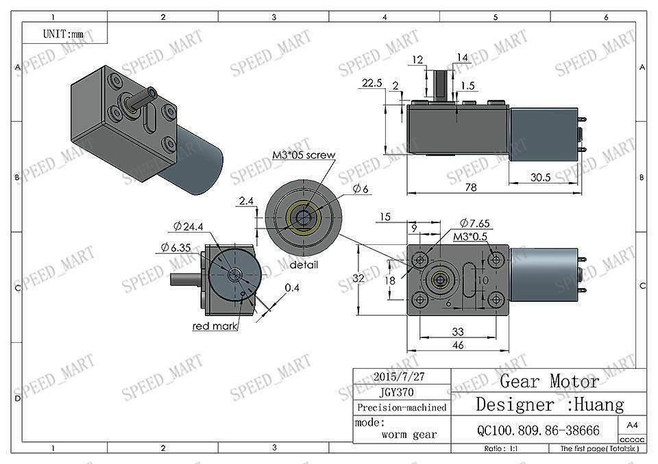 Reversible High torque Turbo worm Geared motor DC motor GW370 12V 60pm