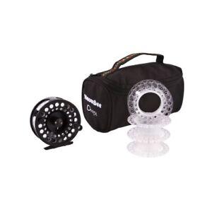 Fly-Fishing-Reel-Snowbee-Onyx-Cassette-Fly-Reel-5-7-3-Cassette-Spools-Case