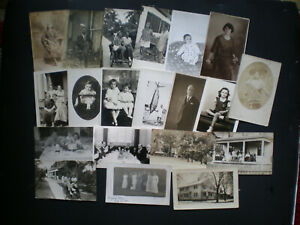 Lot-of-20-Real-Photo-Postcards-RPPC-Mixed