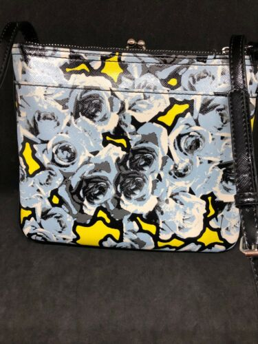 Reistas Zeldzaam Schouder Rose West Crossbody Negen Floral Yellow Print Purse Blue 80POkXwn
