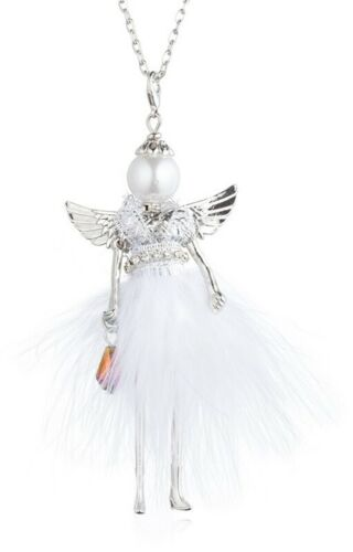 SHOPPING QUEEN Engel  WHITE Angel Kette 80cm mit Puppen Anhänger Karabinerhaken