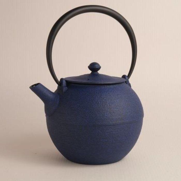 Vraiment Japonais en Fonte Théière wazuqu hikime bleu 0,95 L