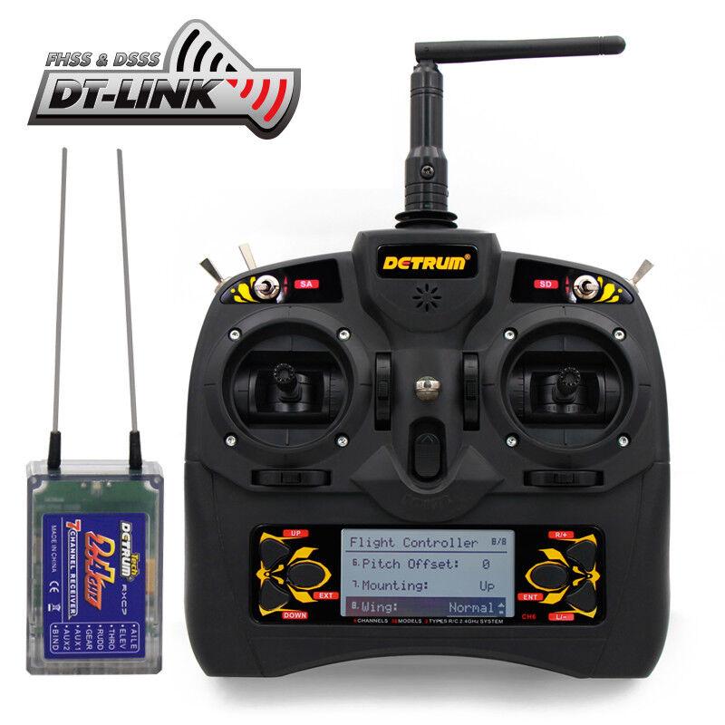 Detrum Gavin-6C 2.4G 6-Channel TX Transmitter W  RXC7 7CH Rx Receiver DTM-T001