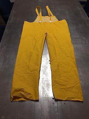 GEAR Rain Suit Overalls Bib Pants 4XL Yellow PVC /& Polyester