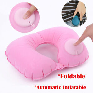 Foldable-Car-Airplane-U-Shape-Automatic-Inflatable-Travel-Pillow-Neck-Protection