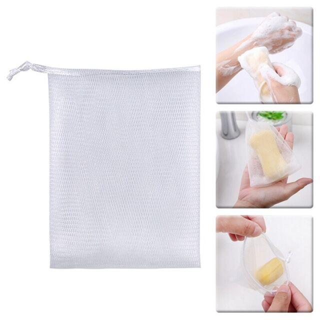 5tlg Seifennetz Seifenbeutel Seifenrestebeutel Seifensäckchen Reinigungs Bag Ksy