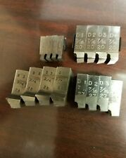 """6pc Tungsten Die Set w// Handle 3//8/""""-16; 1//2/""""-13; 5//16/""""-18; 7//16/""""-14; 1//4/""""-20 NIP"""
