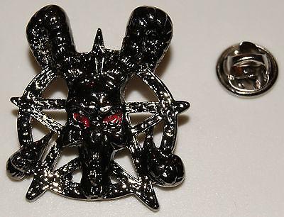 Satan Kreuz Pentagramm Alchemie Skull Gothikl Anstecker l Abzeichen l Pin 87