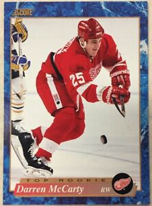 DARREN-McCARTY-1993-94-Score-Hockey-French-626-Rookie-Card-RC-Red-Wings