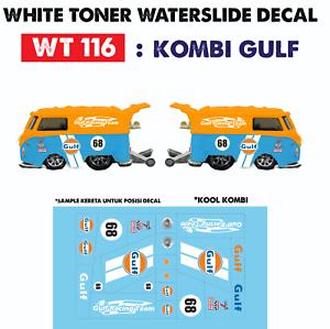Wt116 White Toner Waterslide Decal Kombi Gulf For Custom 1 64 Hot Wheels Ebay
