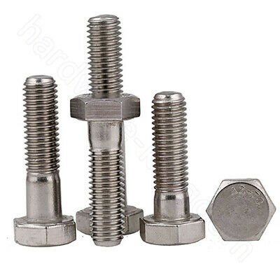 Hex Head Screws A2 Stainless Hexagon Bolts Screw M6 M8 M10 M12 Partial Thread