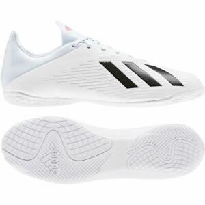 Adidas-Football-Messieurs-X-19-4-In-Chaussure-De-Football-Indoor-Chaussures-Blanc-Bleu-Noir