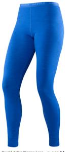 Devold-Active-Mujer-Larga-Johns-Merino-Capa-Base-Azul-Electrico-Talla-L-Senderismo