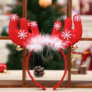 GI-KQ-AU-Christmas-Feather-Antler-Bell-Headband-Kid-Adult-Hair-Band-Hoop-Deco