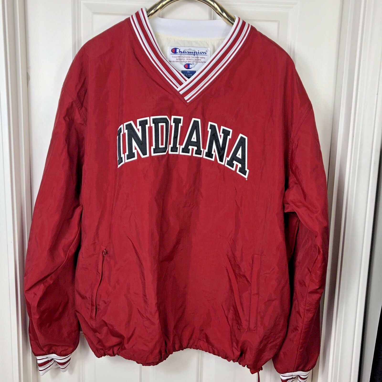 Indiana University IU NCAA VINTAGE CHAMPION  Herren XL Hoosier Pullover EUC