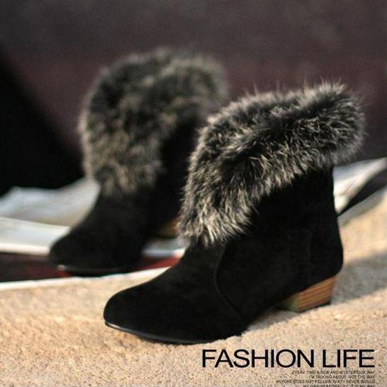 Botines botas zapatos de tacón mujer 3 como piel cabello cómodo caldi negro 9083