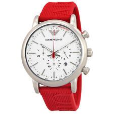 Armani White Dial Mens Chronograph Watch AR11021